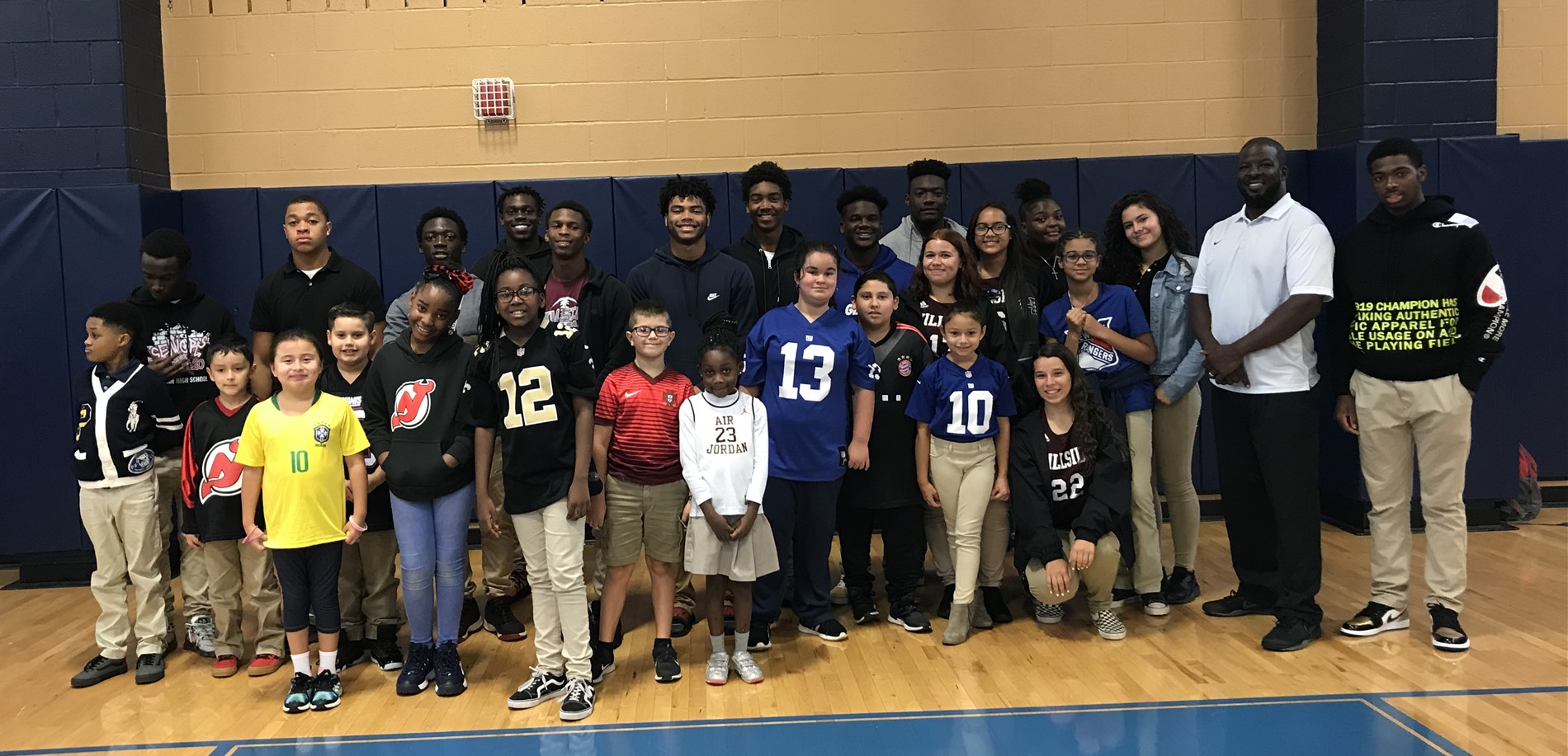 """Be a Team Player"" Assembly with Hillside HS October 7, 2019"