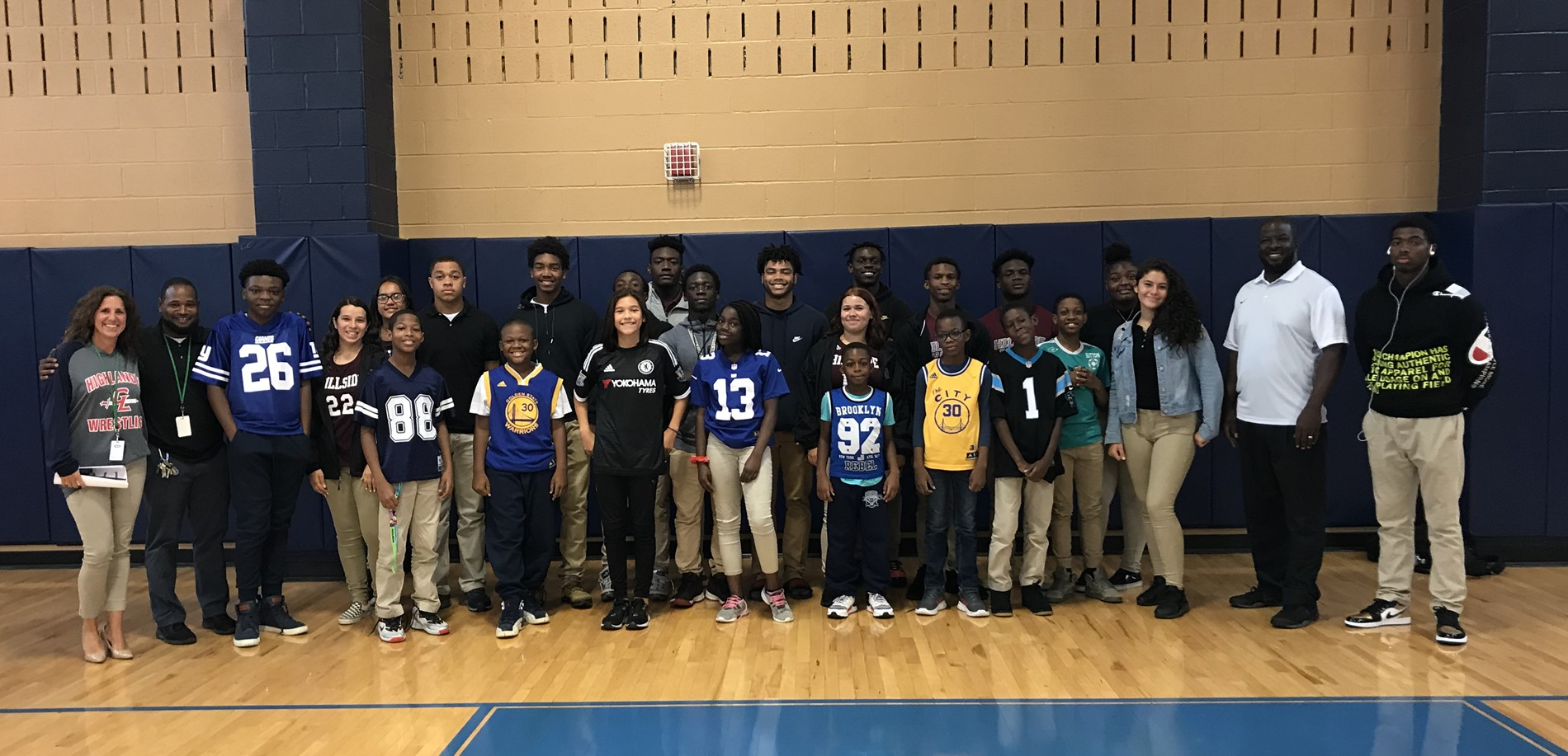 """Be a Team Player"" Assembly with Hillside HS on October 7, 2019"